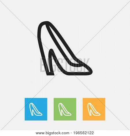 Vector Illustration Of Business Symbol On Stiletto Outline