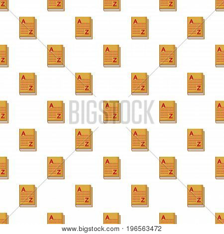 Translation book pattern seamless repeat in cartoon style vector illustration