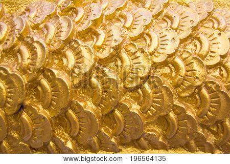 The golden naga scale atat Wat Ban Na Muang Ubon Ratchathani:
