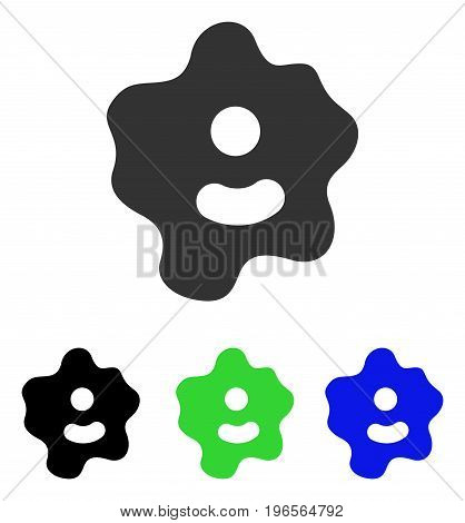 Ameba vector icon. Illustration style is a flat iconic colored symbol with different color versions.