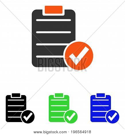 Apply Form vector icon. Illustration style is a flat iconic colored symbol with different color versions.