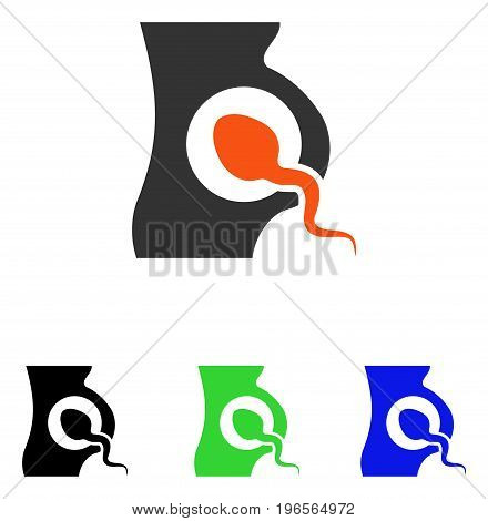 Artificial Insemination vector pictogram. Illustration style is a flat iconic colored symbol with different color versions.