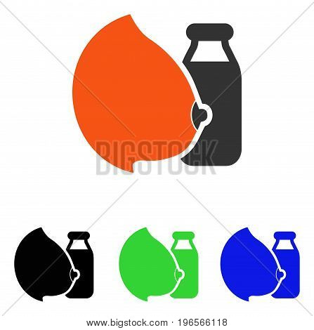Mother Milk vector icon. Illustration style is a flat iconic colored symbol with different color versions.