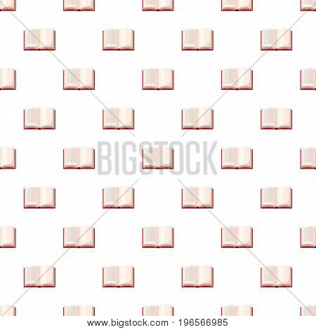 Open book pattern seamless repeat in cartoon style vector illustration