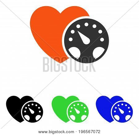 Blood Pressure Meter vector pictogram. Illustration style is a flat iconic colored symbol with different color versions.