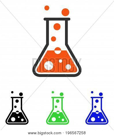 Boiling Liquid vector icon. Illustration style is a flat iconic colored symbol with different color versions.