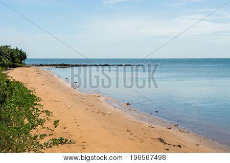 Dirt Road Along The Sea And Wild Empty Coast
