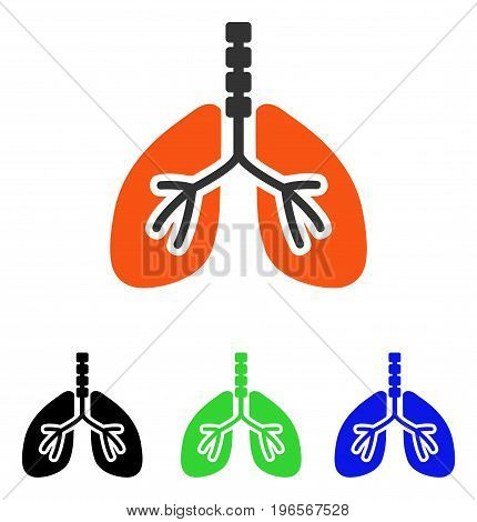 Breathe System vector icon. Illustration style is a flat iconic colored symbol with different color versions.
