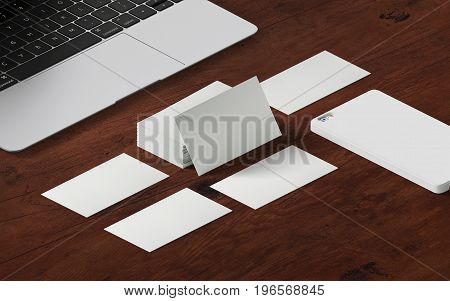 Business cards. Template for branding identity. For graphic designers presentations and portfolios. Mock up business template