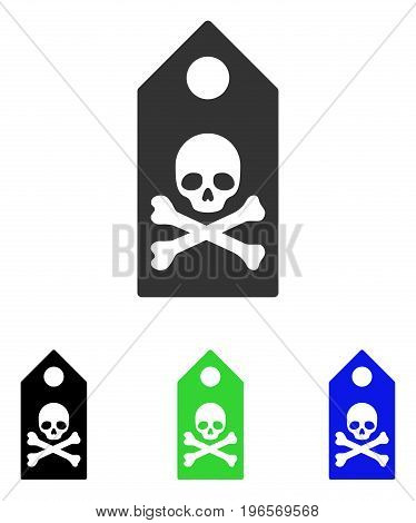 Death Mark vector icon. Illustration style is a flat iconic colored symbol with different color versions.