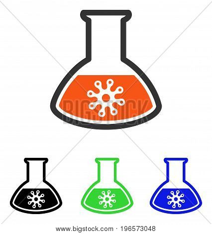 Infection Container vector pictogram. Illustration style is a flat iconic colored symbol with different color versions.