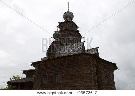 Ancient wooden Orthodox Church Suzdal architecture Russian culture