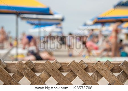 Summer Beach With Blurry Effect, People On The Beach, Abstract Background