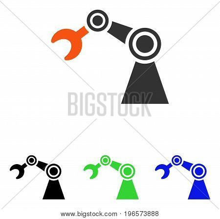 Manipulator vector icon. Illustration style is a flat iconic colored symbol with different color versions.