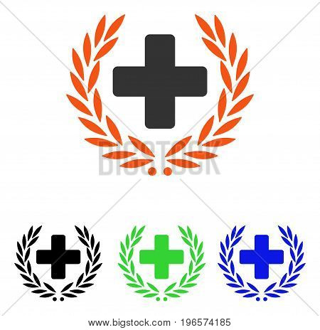 Medical Glory vector pictograph. Illustration style is a flat iconic colored symbol with different color versions.