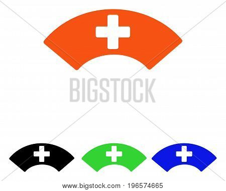 Medical Visor vector icon. Illustration style is a flat iconic colored symbol with different color versions.