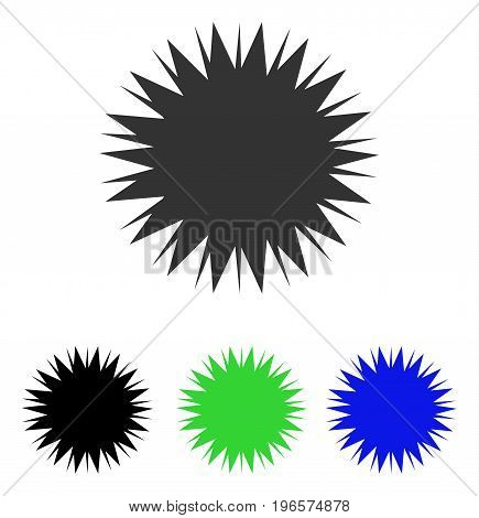 Microbe Spore vector pictogram. Illustration style is a flat iconic colored symbol with different color versions.