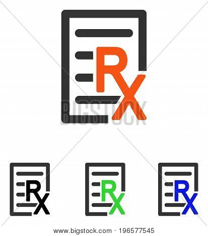 Receipt vector icon. Illustration style is a flat iconic colored symbol with different color versions.
