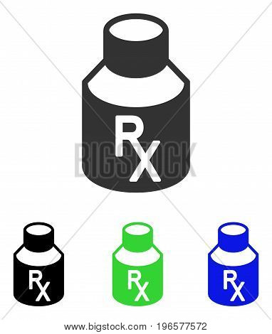 Receipt Vial vector icon. Illustration style is a flat iconic colored symbol with different color versions.