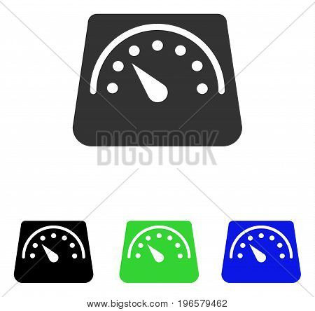 Weight Meter vector pictograph. Illustration style is a flat iconic colored symbol with different color versions.