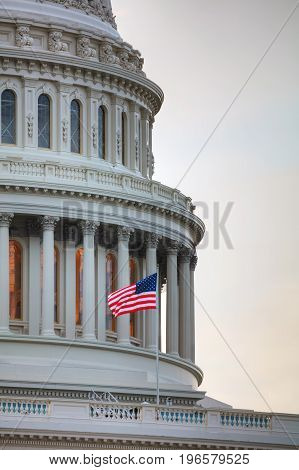 United States Capitol building in Washington DC in the morning