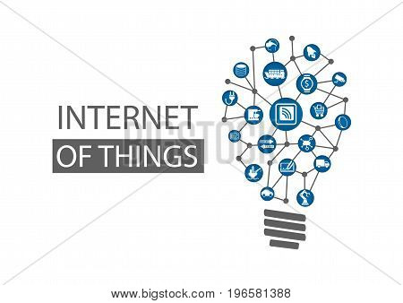 Internet of things (IOT) concept background. Vector illustration representing new innovative ideas within information technology