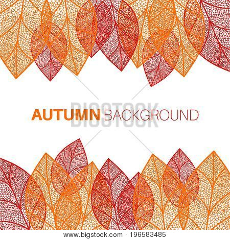Autumn leaves seamless background. Texture for wallpaper, web site, brochure, catalog, flyer booklet