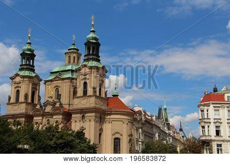 Outdoor of Saint Nicolas church in Prague