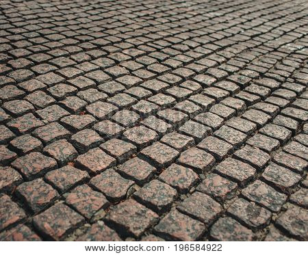 Road from the old pavers.pavers on the sidewalk.street tiles