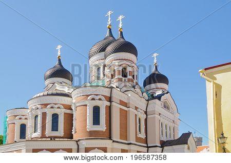 Tallin, Estonia-July 7, 2017: Church in the City of Tallin, Estonia.