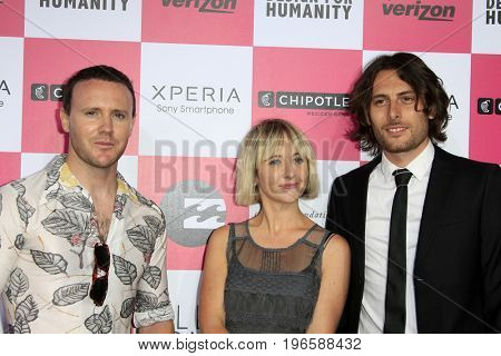 LOS ANGELES - JUL 25:  Joy Formidable at the Billabong's 6th Annual Design For Humanity Event at the Paramount Studios on July 25, 2012 in Los Angeles, CA