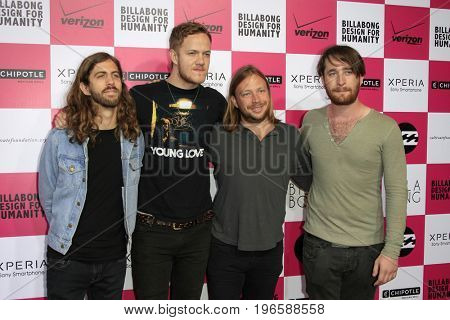 LOS ANGELES - JUL 25:  Imagine Dragons at the Billabong's 6th Annual Design For Humanity Event at the Paramount Studios on July 25, 2012 in Los Angeles, CA
