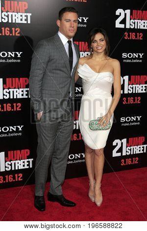 LOS ANGELES - APR 13:  Channing Tatum_Jenna Dewan at the