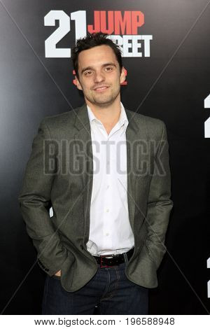 LOS ANGELES - APR 13:  Jake Johnson at the