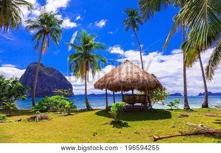 Tropical getaway - wild beauty of Philippines island,amazing sce