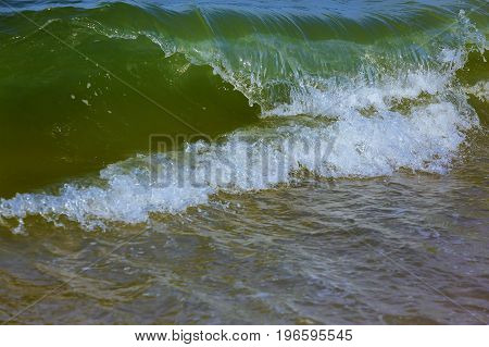 Blue Ocean With Waves And Clear Blue Blue Water Surface