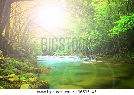 Mystic mountain river