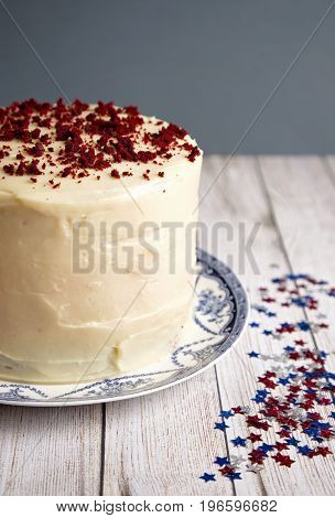 Triple Layered Red Velvet Cheesecake
