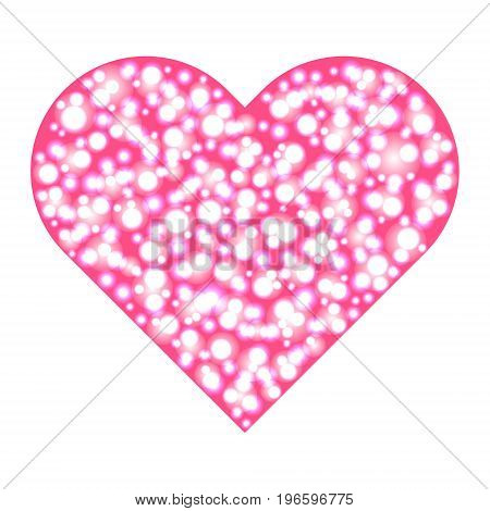 big heart of glowing bubbles. Vector illustration