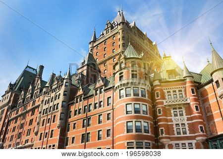 Frontenac Castle in Old Quebec City at the Canada