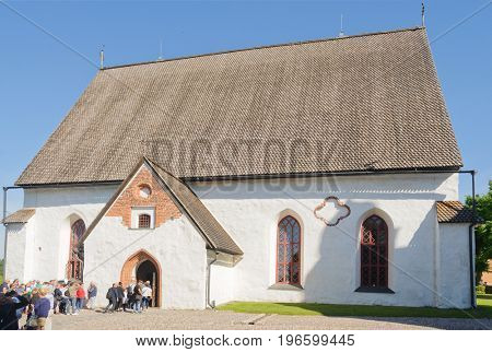 Porvoo, Finland-July 10, 2017: Church in of Porvoo, a Finnish city dating from the 14th century