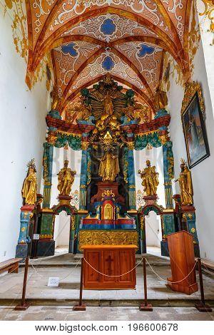 Slovakia Red Monastery May 21 2017: Interior of famous Red Monastery called Cerveny Klastor in Pieniny mountains Slovakia