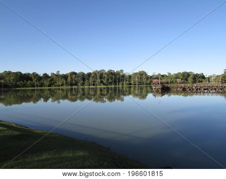 Landscape of the lagoon Ernani José in Brazil MT