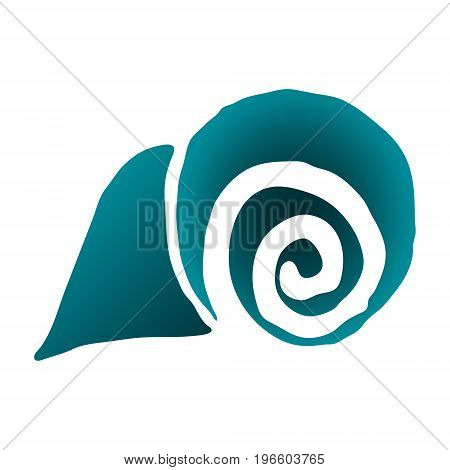Sea shell. vector illustration. Drawing by hand