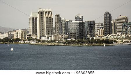 The City of San Diego, California from across the bay
