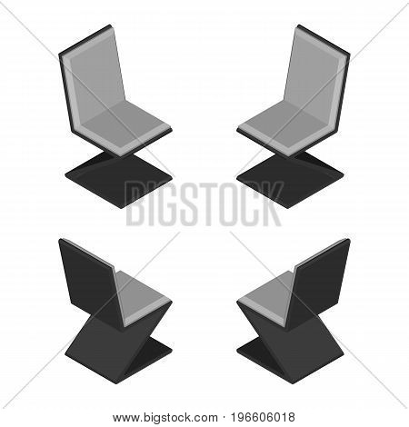 Futuristic Isometric Modern Chair. Vector Furniture Concept.