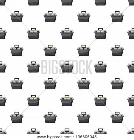 toolbox pattern seamless repeat in cartoon style vector illustration
