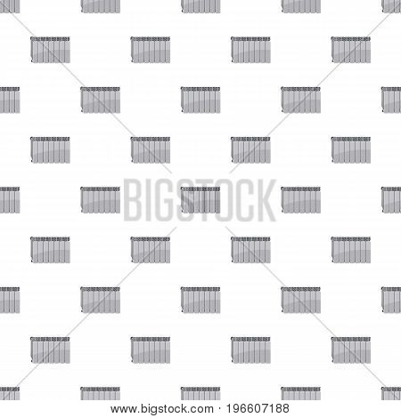 Heating battery pattern seamless repeat in cartoon style vector illustration