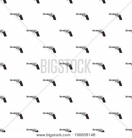 Gun pattern seamless repeat in cartoon style vector illustration