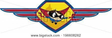 Superhero In Shield